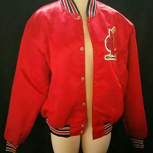 Vintage Starter Silk Bomber Jacket St.louis Cardin
